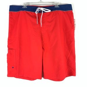 Old Navy red and blue board swim shorts